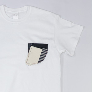 [ WEST SHORE ] Fin Pocket Tee - white