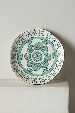 ANTHROPOLOGIE // Gloriosa Side Plate -green