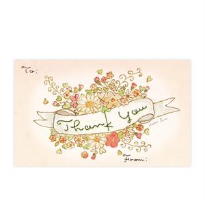 メッセージカード5枚セット『Thank You』~Atelier Luce~