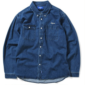 【Lafayette】WASHED DENIM B.D. SHIRT - BLUE