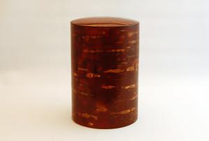 桜皮茶筒:色出し大