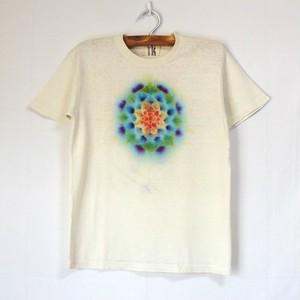 TKHOME FACTORY 曼荼羅染め ヘンプコットンTシャツ  S