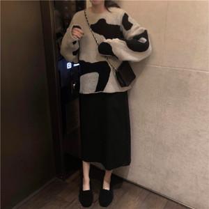 2点セット商品 オーバーサイズニット ロング丈スカート【0996】