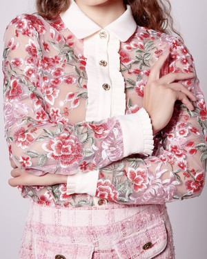 【Sister Jane】Formal Embroidered Blouse