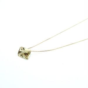 Holey stone Necklace LemonQuartz - K18YG