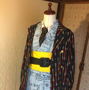 ネオKimonoセット ロンドン写真集でモデルが着用した着物