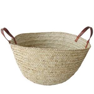 ナイジェリアのかご L 無地 / Nigerian Basket SizeL Natural
