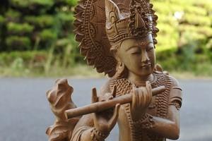 木彫り 彫刻 クリシュナ