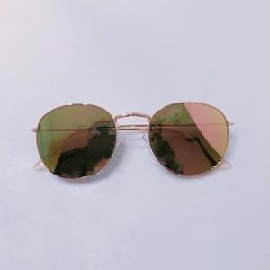 Eyewear♡ラウンド04  ピンクミラー