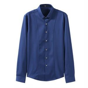送料無料メンズ/ウエストシャープ/ダーツ/シンプル/長袖ワイシャツ/白/赤/青/黒
