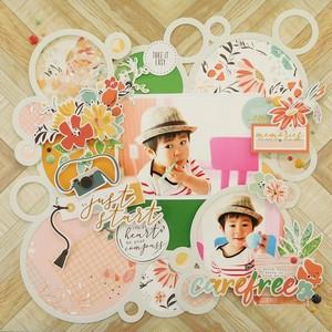 【キット】「12インチ+ミニアルバム」Pinkfresh Studioで彩るカジュアルスタイル
