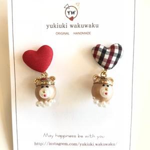 yukiuki wakuwaku プクプクパールのクマさんピアス