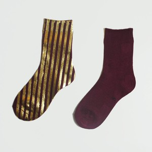METAL SOX (STRIPE) BOLDEAUX  x GOLD