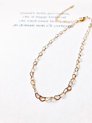Heart ×2  choker necklace (ハート チョーカー ネックレス )