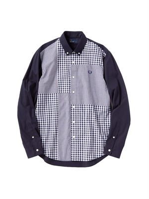 FRED PERRY(フレッドペリー)GINGHAM MIX PANEL SHIRT