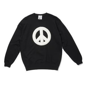 AVAILABLE NOWHERE PEACE TALKS FAKE FURRY SWEAT(BLACK)