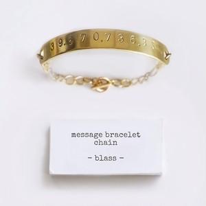 [ お好きな刻印可能 ] chain bracelet