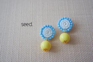 ビーズステッチのピアス BL × lemon YE