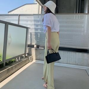 Slit lemon pants