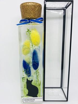 お家にかえろうかな? ハーバリウム  ケース付 記念日 誕生日 輝いて  動物好き 記念日 誕生日 ウッドキャップ 愛媛県松山市
