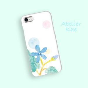 スマホケース「青い花のメロディー」iPhone/Android対応 【受注生産】