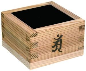 加飾枡焼印 杉・内面黒8勺 梵字「戌亥」