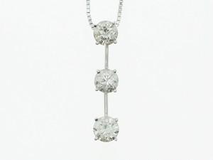 【K18WG】1.00ct UP ダイヤモンドネックレス