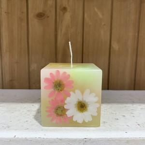 FLOWER CUBE CANDLE キャンドル 【ローズの香り】