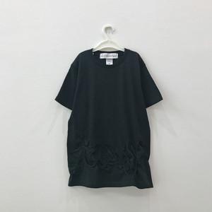 【キッズMサイズ】ビッグシルエットTシャツ(twincow)Black