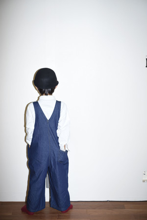 【SALE】denim salopette