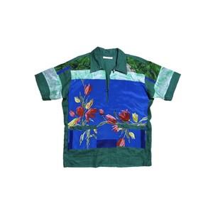 reversible linen shirt (green)