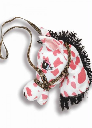 [Forum Noverties]-COWGIRL PINK HAND BAG -キュートな馬のぬいぐるみBAG [FNI-62034]