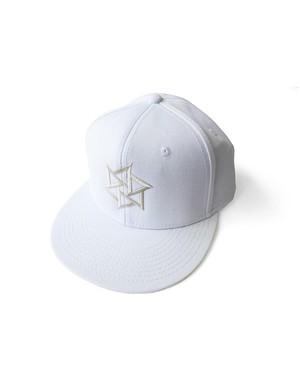 帽子1号 「鱗廻(りんね)」 白(白刺繍)