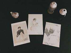 yoshimaru × chocolatreetoile お針子さんのカード 3枚set