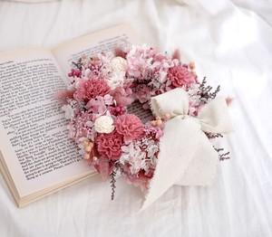 【母の日】幸せを届ける可愛いピンクリース