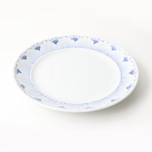 【SL-0058】磁器 25cm プレート 白×青