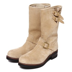 REBELS SUEDE ENGINEER BOOTS (BEIGE) / RUDE GALLERY BLACK REBEL