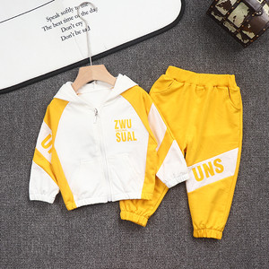 【セットアップ】スボーツ系コットン長袖配色男の子2点セット24838168