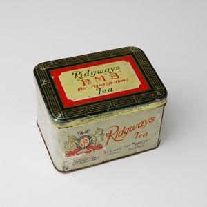 ビンテージ缶 1897年製 イギリス リッジウェイ 20011201015 アンティーク缶 tin缶 紅茶缶 ビスケット缶 トフィー缶 ブリキ 雑貨