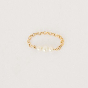 Chiro original gold×pearl  ring