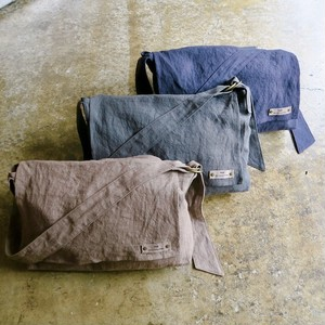 Washed linen shoulder bag(double name original)