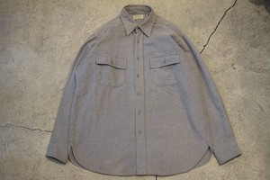 USED 80s L.L.Bean Chamois cloth shirt -16 0904