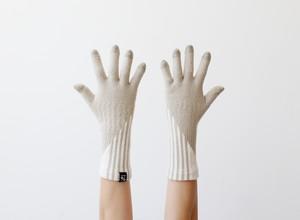 % PERCENT 手袋(FIT:ベージュ・ホワイト)裏起毛・スマホ対応・ギフト箱付き(男女兼用)
