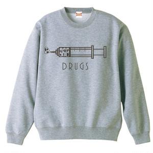 [スウェット] DRUGS (Gray)