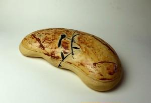 可愛い花豆の菓子/色絵/陶器/茶道具/茶道/鳥/黄色い器/陶芸家池田幸蓮~愉しい器のone art gallery