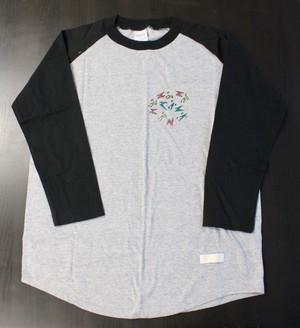 171008ラグランTシャツ(グレー×ブラックS2)
