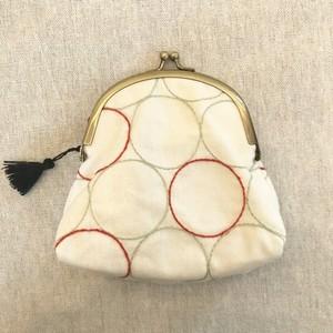 手刺繍がま口 まるWH2 /ito_糸