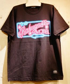 RAKUGAKI MOTEL NEON Logo T-Shirts Black