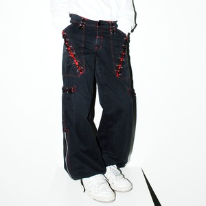 00s『POIZEN INDUSTRIES』 Gothic design pants