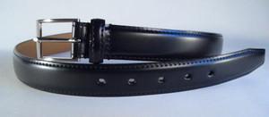 ベルト コードバン FBL 610 黒&チョコ